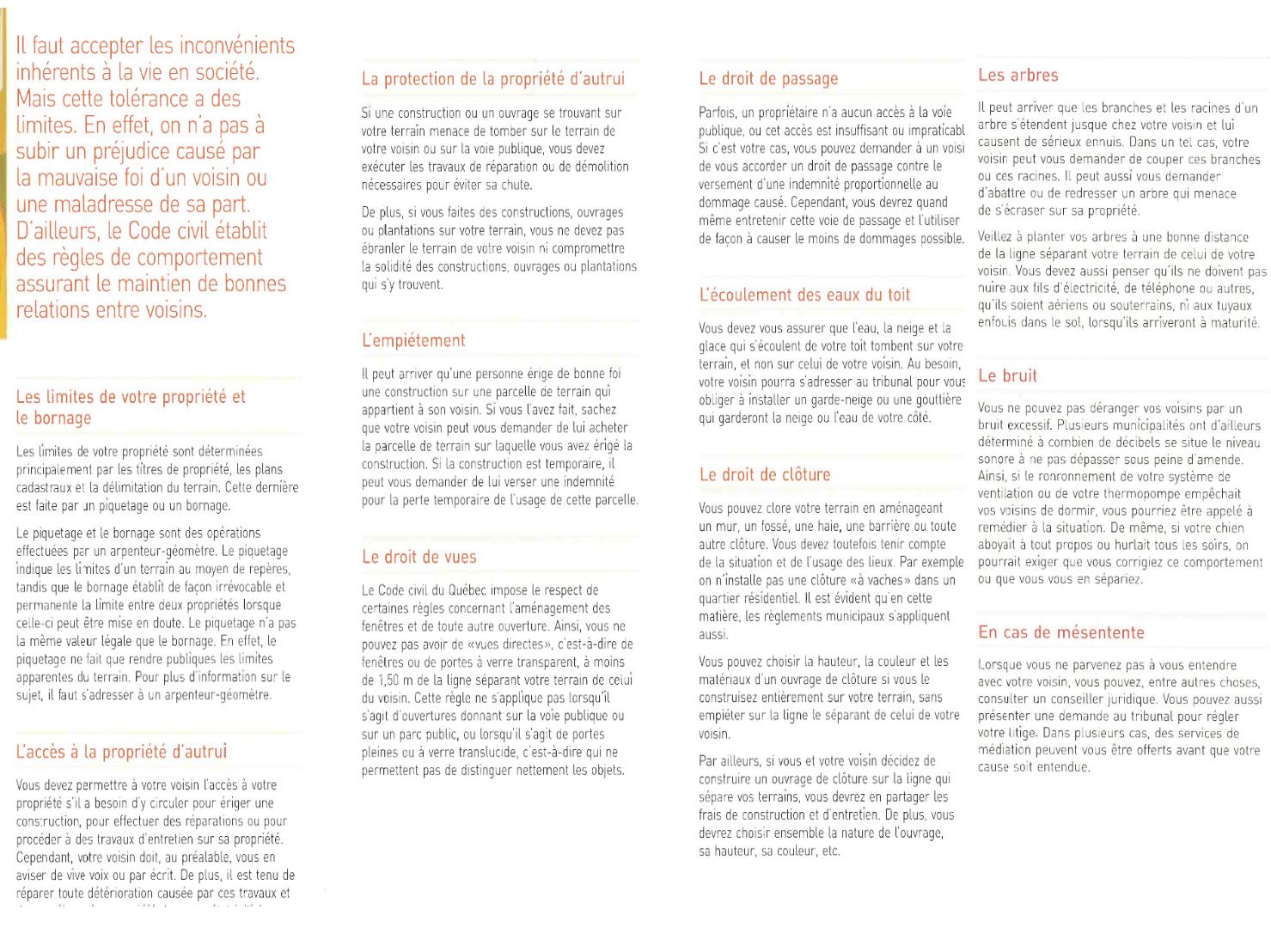 les rapports de voisinage soyez en inform s municipalit de saint paul d 39 abbotsford. Black Bedroom Furniture Sets. Home Design Ideas